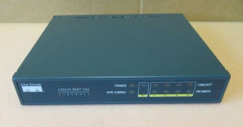 Cisco 47-10539-01 PIX 501 Series 4-Port VPN Firewall Switch Without AC Adapter